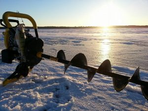 Nodak Lodge Ice Auger On Ice