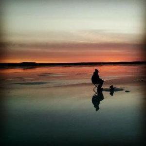Fishing on Lake Winnie at sunset